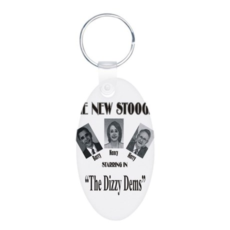 New Stooges: Dizzy Dems Aluminum Oval Keychain