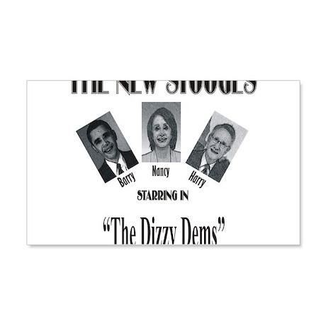 New Stooges: Dizzy Dems 22x14 Wall Peel