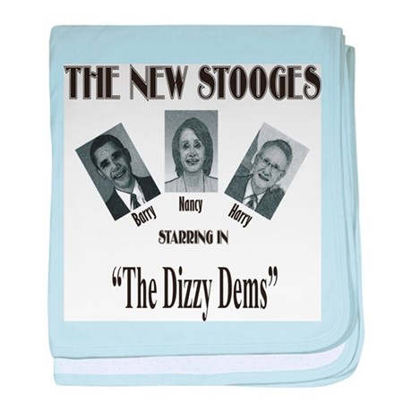 New Stooges: Dizzy Dems baby blanket