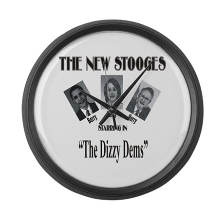 New Stooges: Dizzy Dems Large Wall Clock