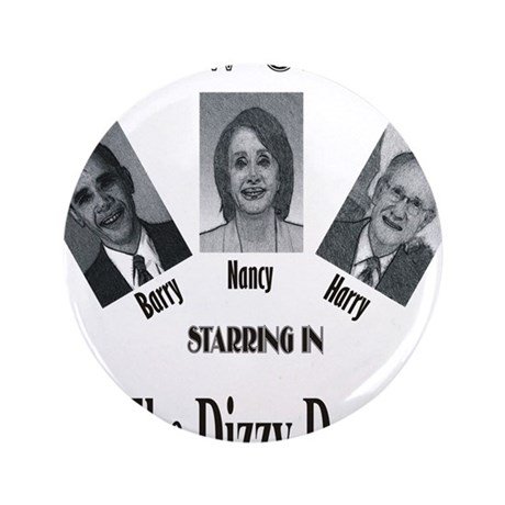"""New Stooges: Dizzy Dems 3.5"""" Button (100 pack)"""