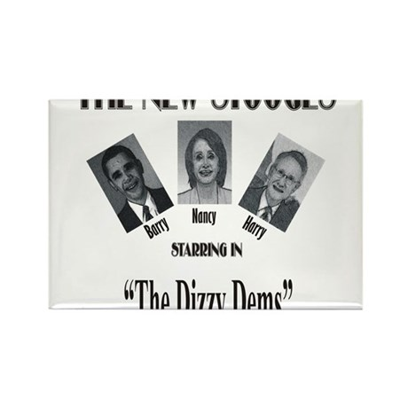 New Stooges: Dizzy Dems Rectangle Magnet (10 pack)