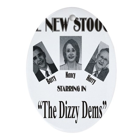 New Stooges: Dizzy Dems Ornament (Oval)