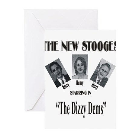 New Stooges: Dizzy Dems Greeting Cards (Pk of 10)