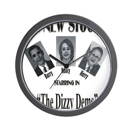 New Stooges: Dizzy Dems Wall Clock