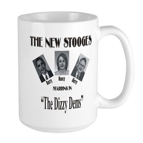 New Stooges: Dizzy Dems Large Mug