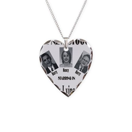 New Stooges: Lying Libs Necklace Heart Charm