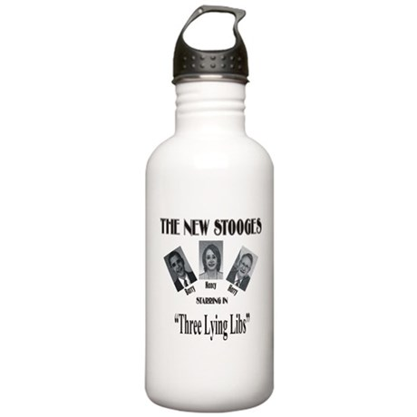 New Stooges: Lying Libs Stainless Water Bottle 1.0