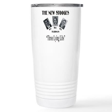 New Stooges: Lying Libs Stainless Steel Travel Mug