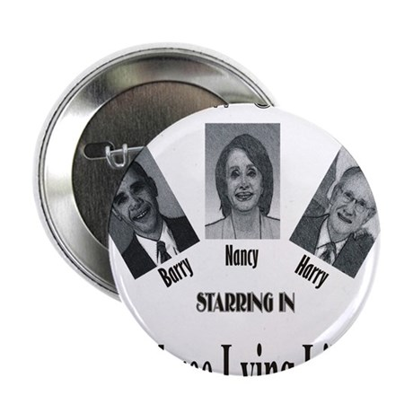 """New Stooges: Lying Libs 2.25"""" Button"""