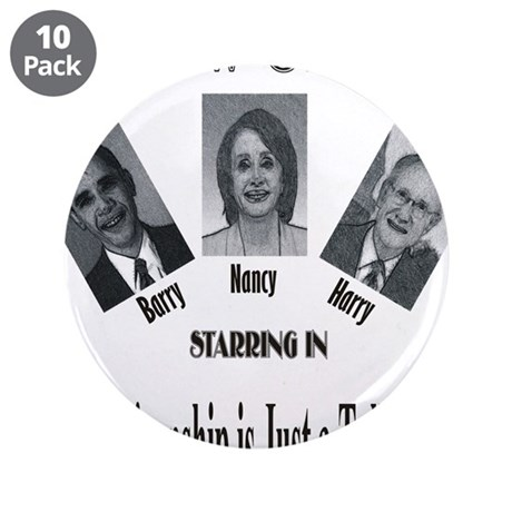 "New Stooges: Post-Partisan 3.5"" Button (10 pack)"