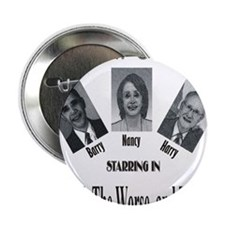 """New Stooges: Ugly 2.25"""" Button (100 pack)"""