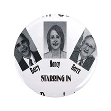 """New Stooges: Donor 3.5"""" Button"""