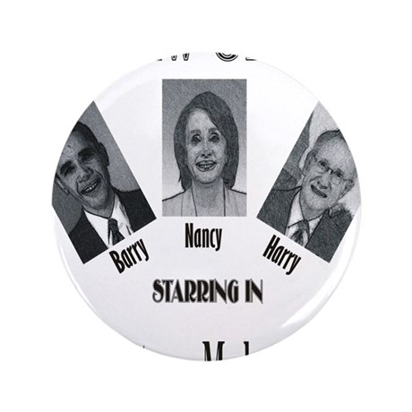 "New Stooges: Amendments 3.5"" Button (100 pack)"