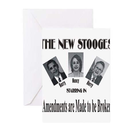 New Stooges: Amendments Greeting Cards (Pk of 20)