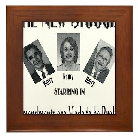 New Stooges: Amendments Framed Tile
