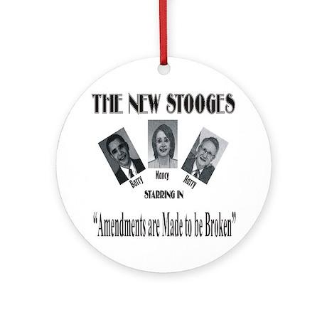 New Stooges: Amendments Ornament (Round)