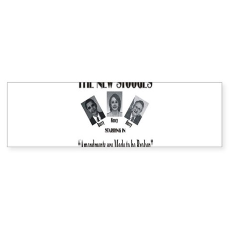 New Stooges: Amendments Sticker (Bumper)