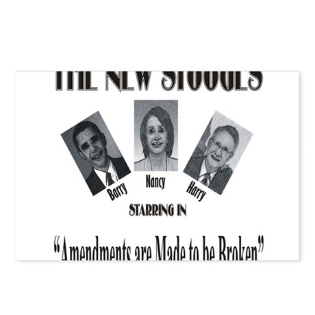 New Stooges: Amendments Postcards (Package of 8)