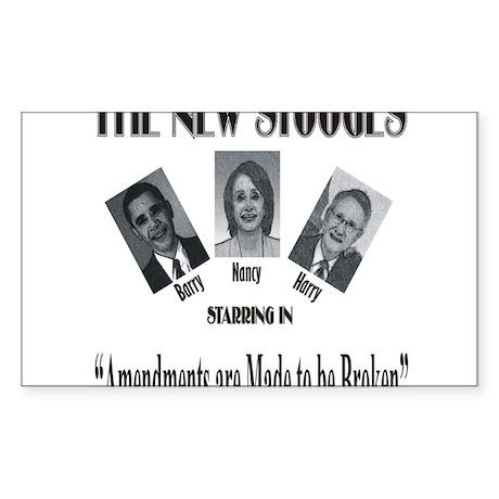 New Stooges: Amendments Sticker (Rectangle)