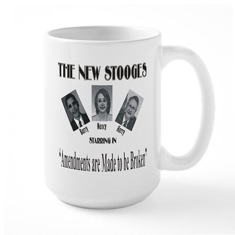 New Stooges: Amendments Large Mug