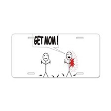 Get Mom! Firecracker Aluminum License Plate
