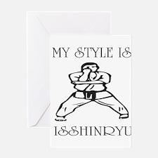 Cute Isshinryu karate Greeting Card