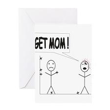 Get Mom! Throwing Star Greeting Card
