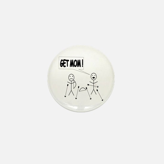 Get Mom! Bow and Arrow Mini Button