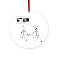 Get Mom! Bow and Arrow Ornament (Round)