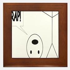 Headless Guy Says Crap Framed Tile