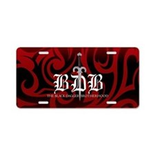 BDB Dagger Black-and-Red Aluminum License Plate