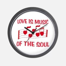 LOVE IS MUSIC Wall Clock