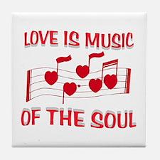 LOVE IS MUSIC Tile Coaster