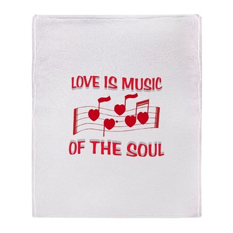 LOVE IS MUSIC Throw Blanket