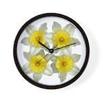 White daffodils Wall Clock
