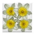 White daffodils Tile Coaster