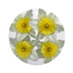 White daffodils Ornament (Round)