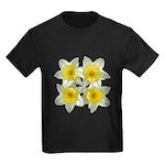 White daffodils Kids Dark T-Shirt