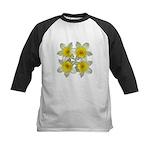 White daffodils Kids Baseball Jersey