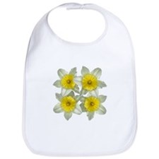 White daffodils Bib