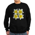 White daffodils Sweatshirt (dark)