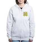 White daffodils Women's Zip Hoodie