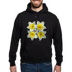 White daffodils Hoodie (dark)