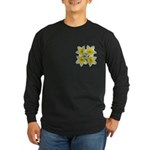 White daffodils Long Sleeve Dark T-Shirt
