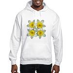 White daffodils Hooded Sweatshirt