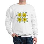 White daffodils Sweatshirt