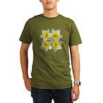 White daffodils Organic Men's T-Shirt (dark)