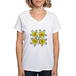 White daffodils Women's V-Neck T-Shirt