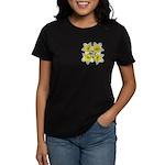 White daffodils Women's Dark T-Shirt